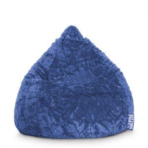 Beanbag Fluffy L blauw 2 | SittingPoint | SittingBags.nl