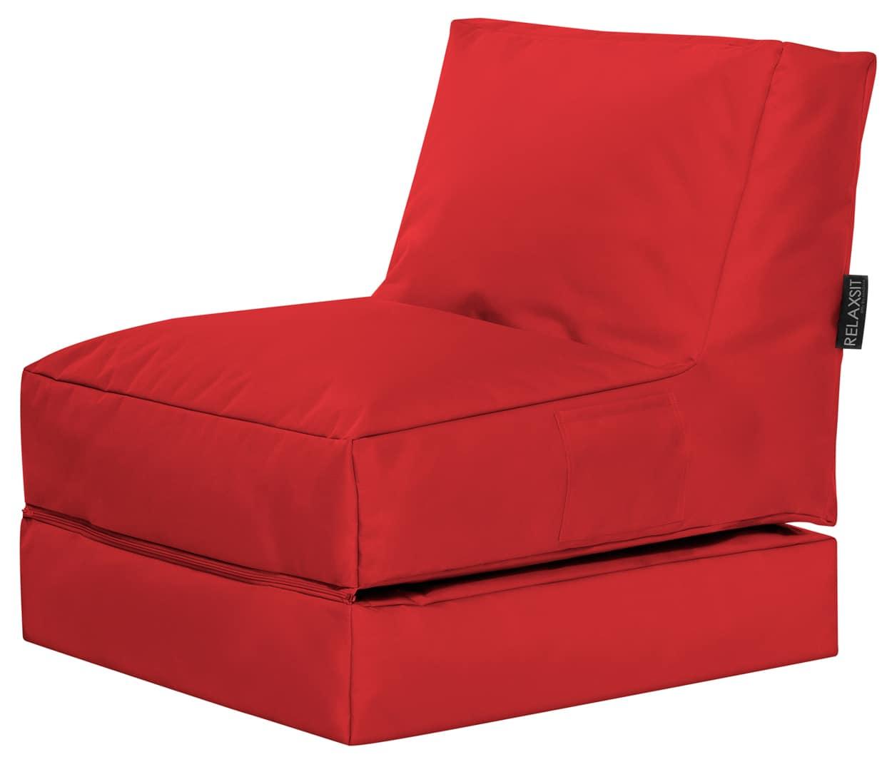 Lounge zitzak rood voor buiten sitting bags for Lounge stoel buiten