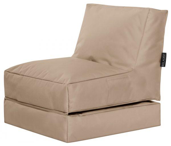 Lounge zitzak khaki SittingBags.nl