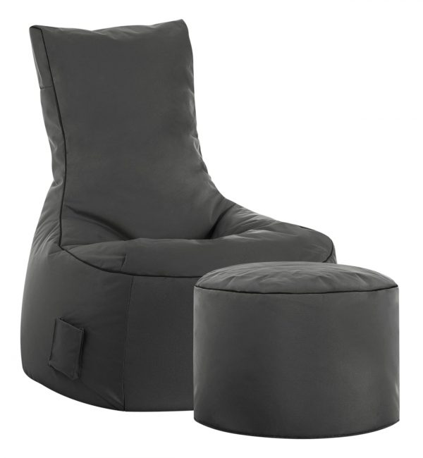 zitzak stoel buiten antraciet sittingbags.nl