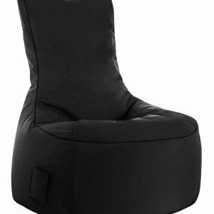 zitzak stoel buiten zwart sittingbags.nl