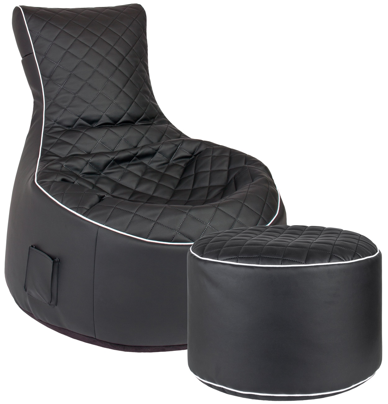 V a gez gez een zwarte chill stoel zitzak for Chill stoel