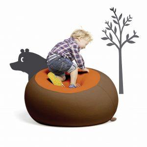 Stanley bruin & oranje sittingbags.nl