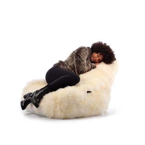 Sfeer B-Bag Mighty-B Vrouw Furry   Extreme Lounging   Sitingbags.nl