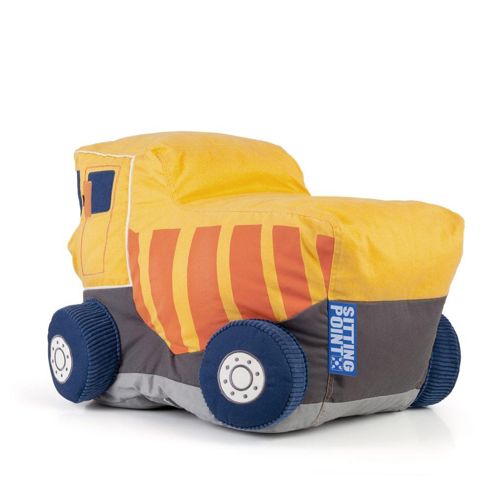 Zitzak Van Cars.Zitzak Kind Truck Geel 3 Sittingpoint Sittingbags Nl