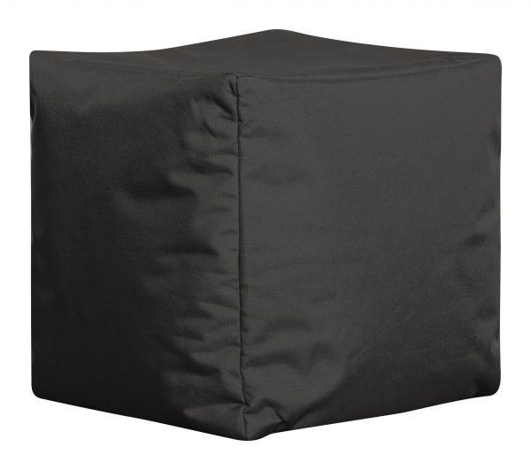 Vierkante Poef Zwart Zijaanzicht   Sittingbags