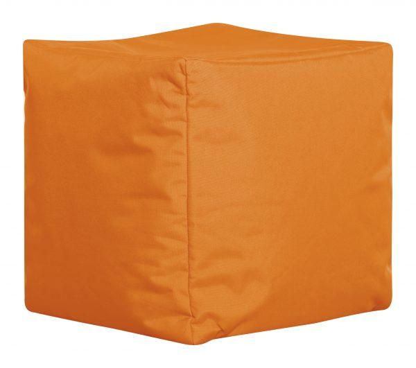 Vierkante Poef Oranje Zijaanzicht   Sittingbags