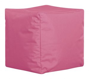 Vierkante Poef Roze Zijaanzicht | Sittingbags