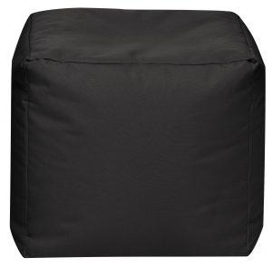 Vierkante Poef Zwart | Sittingbags
