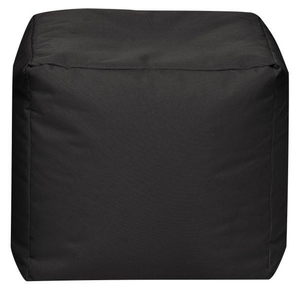 Vierkante Poef Zwart   Sittingbags