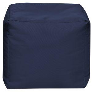 Vierkante Poef Jeansblauw   Sittingbags