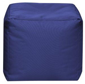 Vierkante Poef Donkerblauw | Sittingbags