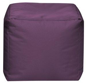 Vierkante Poef Aubergine | Sittingbags