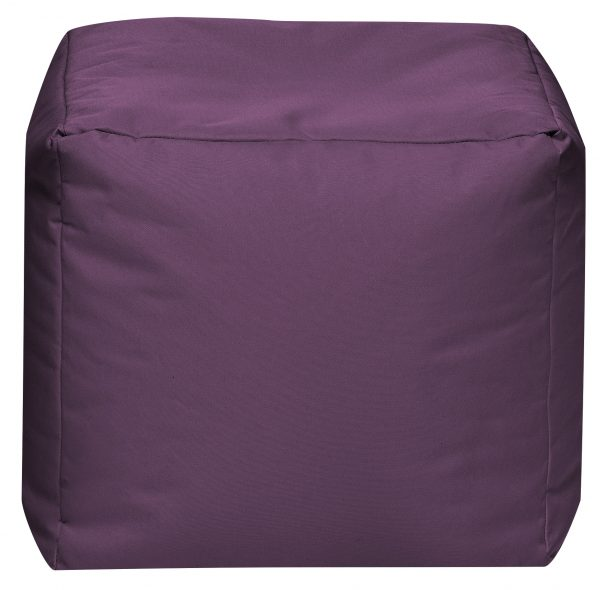 Vierkante Poef Aubergine   Sittingbags
