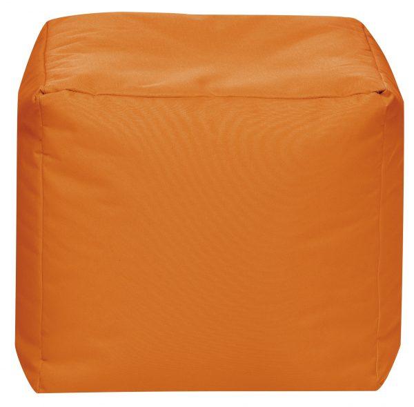 Vierkante Poef Oranje   Sittingbags