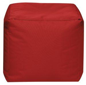 Vierkante Poef Rood | Sittingbags