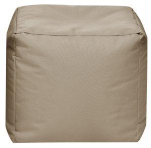 Vierkante Poef Khaki | Sittingbags