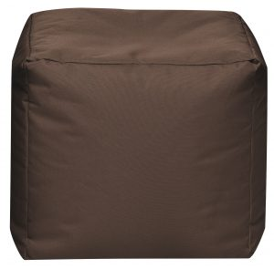 Vierkante Poef Bruin | Sittingbags