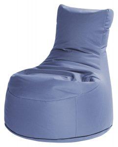 Zitzak stoel blauw premium | SittingBags.nl