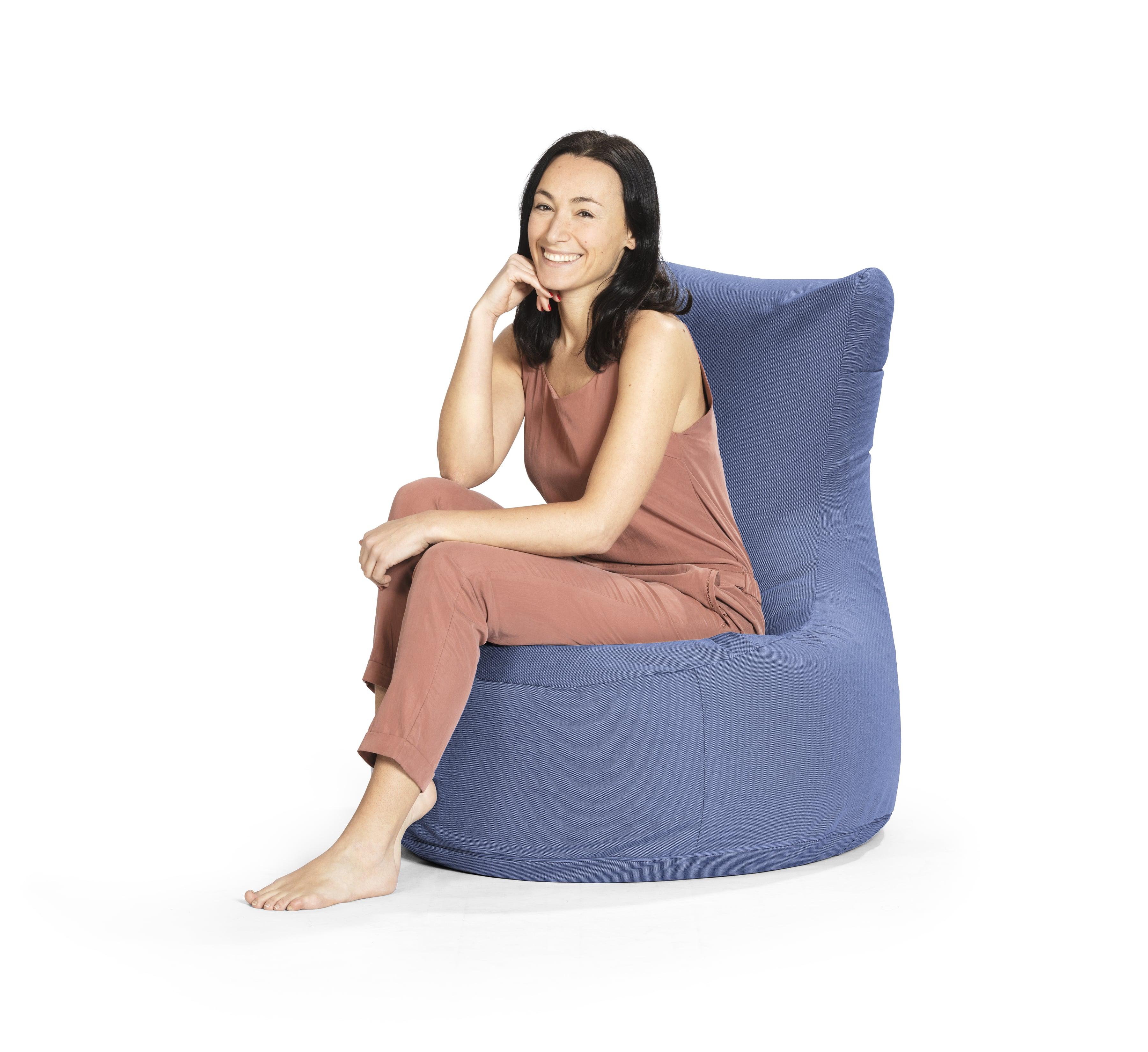 Zitzak Kleur Blauw.Zitzak Stoel Blauw Premium Sittingbags Nl