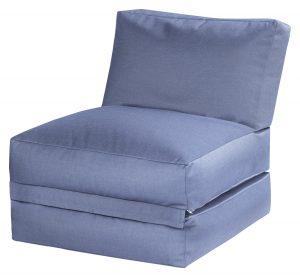 lounge zitzak buiten blauw basis