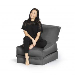 Lounge zitzak antraciet premium | SittingBags.nl