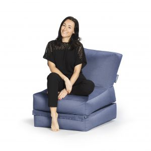 lounge zitzak blauw premium   sittingbags.nl