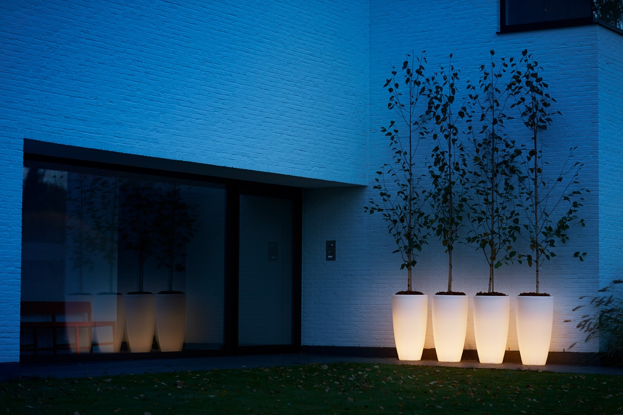 Bloempot Met Licht : Elho pure soft round high led light 40cm sittingbags.nl