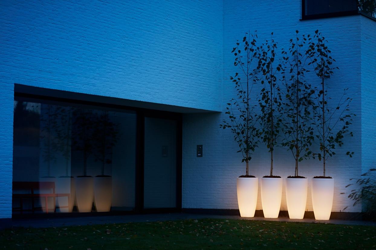 Bloempot Met Licht : Elho pure soft round high led light 40cm sittingbags.nlsittingbags.nl