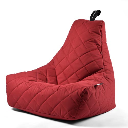 B-Bag Mighty-B Quilted Zitzak Red