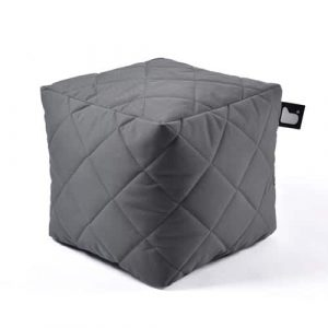 B-Box Mighty-B Quilted Poef Grey