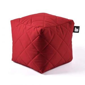 B-Box Mighty-B Quilted Poef Red