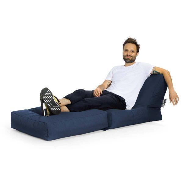 jeans blue lounge zitzak achtergrond