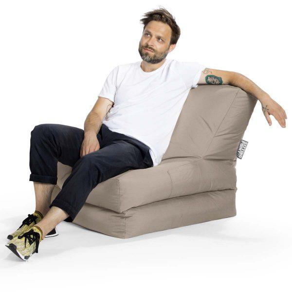lounge zitzak stoel khaki