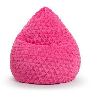 Sitting Point Zitzak Beanbag Fluffy Hearts L - Pink