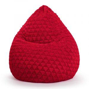 Sitting Point Zitzak Beanbag FLuffy Hearts XL - Rood